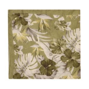 Amanda Christensen pocket square green flower