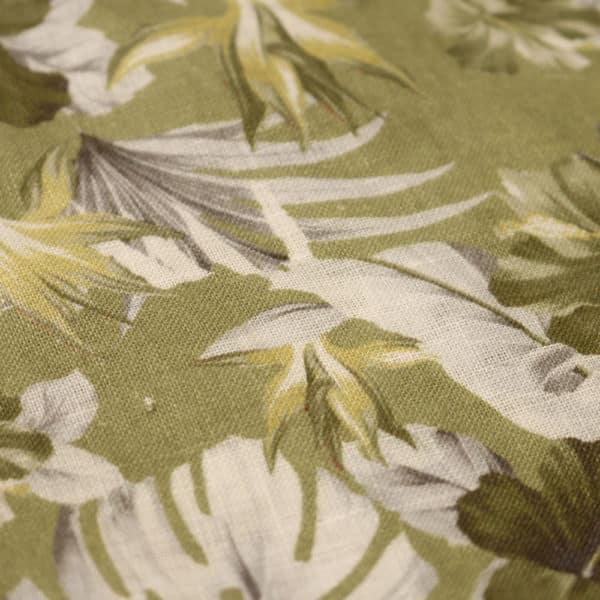 Amanda Christensen pocket square green flower fabric