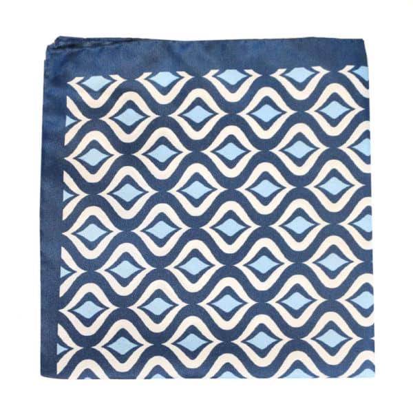Amanda Christensen pocket square navy sea silk 1