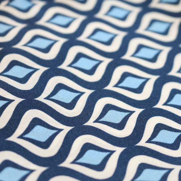 Amanda Christensen pocket square navy sea silk fabric 1