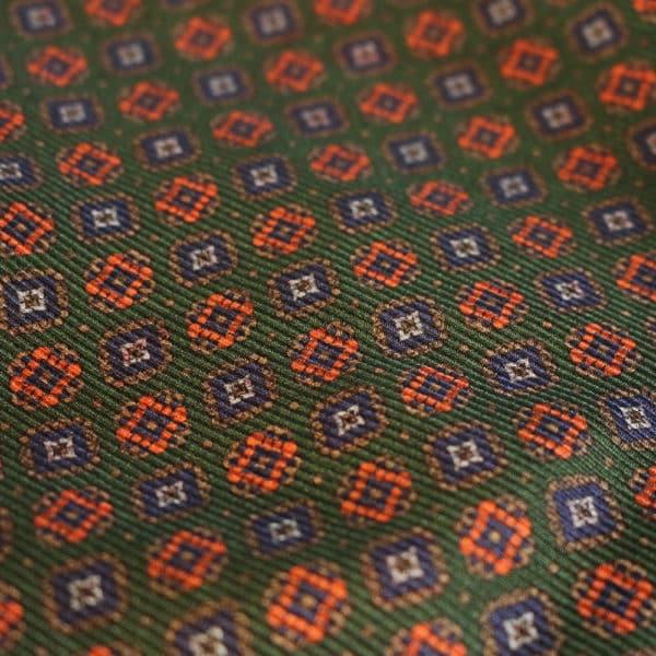 Amanda Christensen pocket square olive green silk indian fabric 2