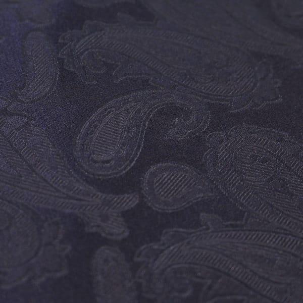 Amanda Christensen pocket square paisley navy fabric