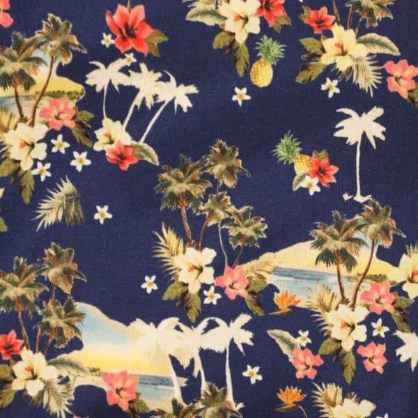 Amanda Christensen pocket square palm trees navy fabrics
