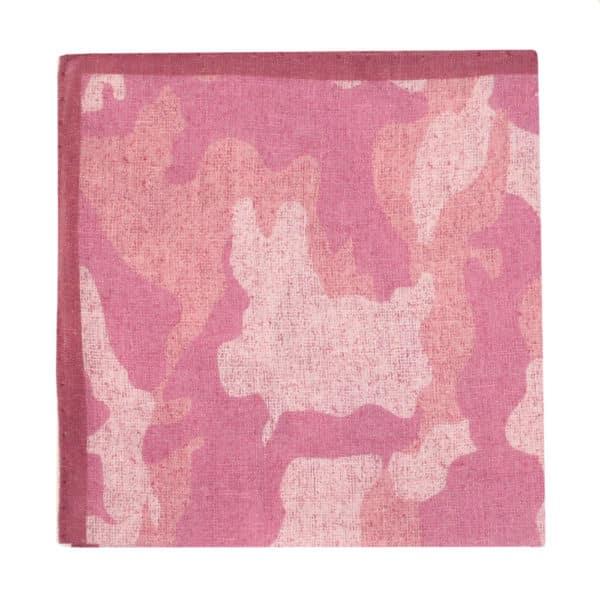 Amanda Christensen pocket square pink linen