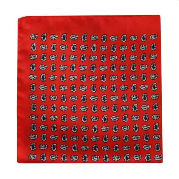 Amanda Christensen pocket square red 4 pattern silk 2