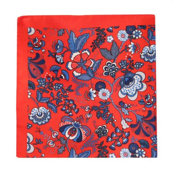 Amanda Christensen pocket square red 4 pattern silk 3