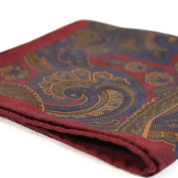 Amanda Christensen pocket square red silk indian3
