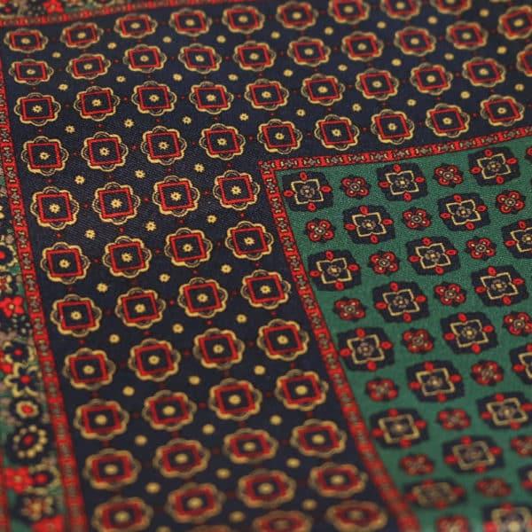 Amanda Christensen pocket square silk blue fabric
