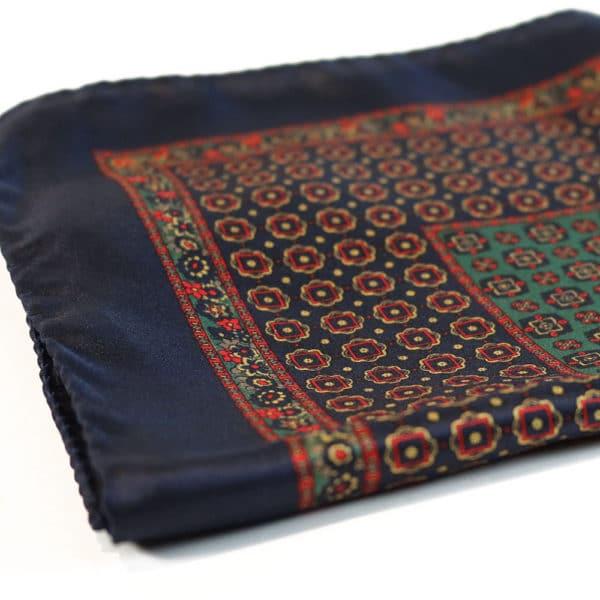 Amanda Christensen pocket square silk blue fabric2