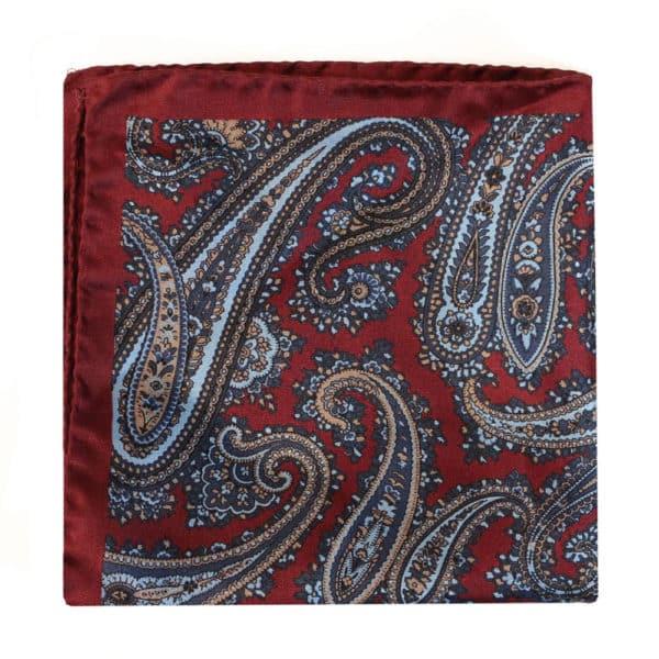 Amanda Christensen pocket square silk red 4 sided 2