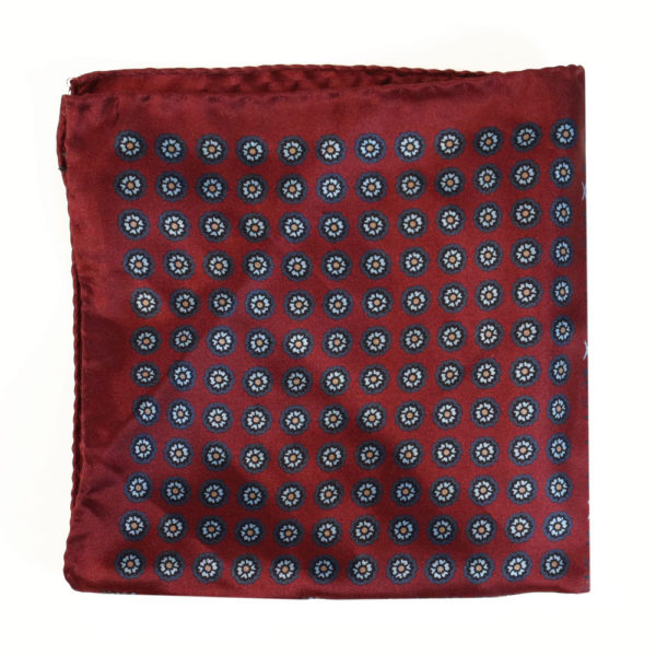 Amanda Christensen pocket square silk red 4 sided 3