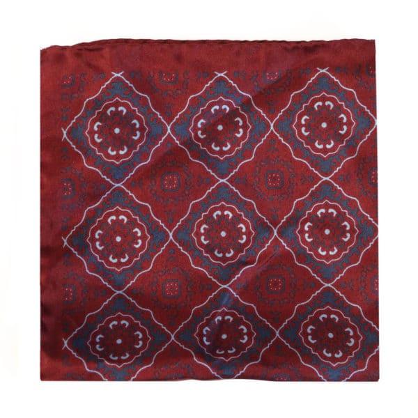 Amanda Christensen pocket square silk red 4 sided 4