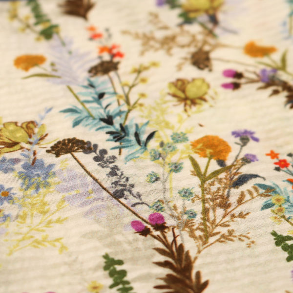 Amanda Christensen pocket square stripe flower fabric