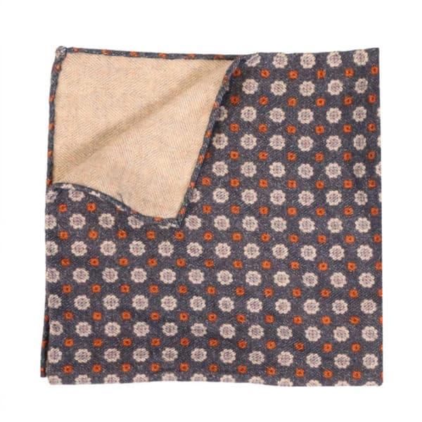 Amanda Christensen pocket square wool denim look