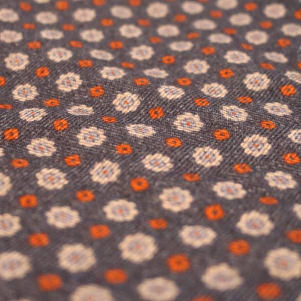 Amanda Christensen pocket square wool denim look fabric