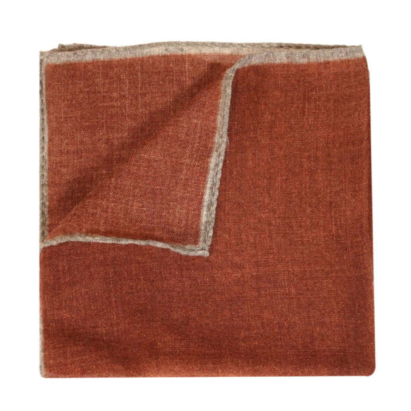 Amanda Christensen pocket square wool rust