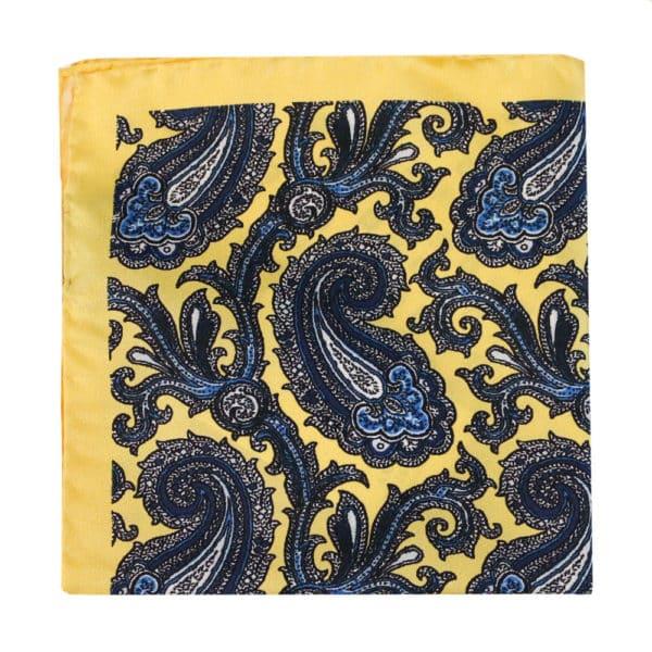 Amanda Christensen pocket square yellow 4 pattern silk 2
