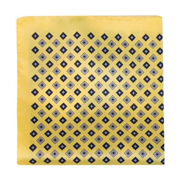 Amanda Christensen pocket square yellow 4 pattern silk 3