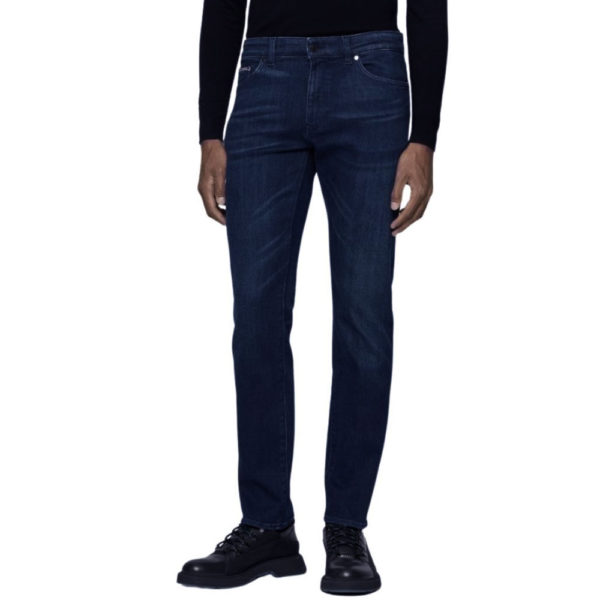 BOSS CASHMERE TAILORED JEAN MID WASH front