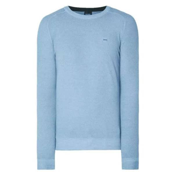 BOSS CREW NECK BLUE sweatshirt