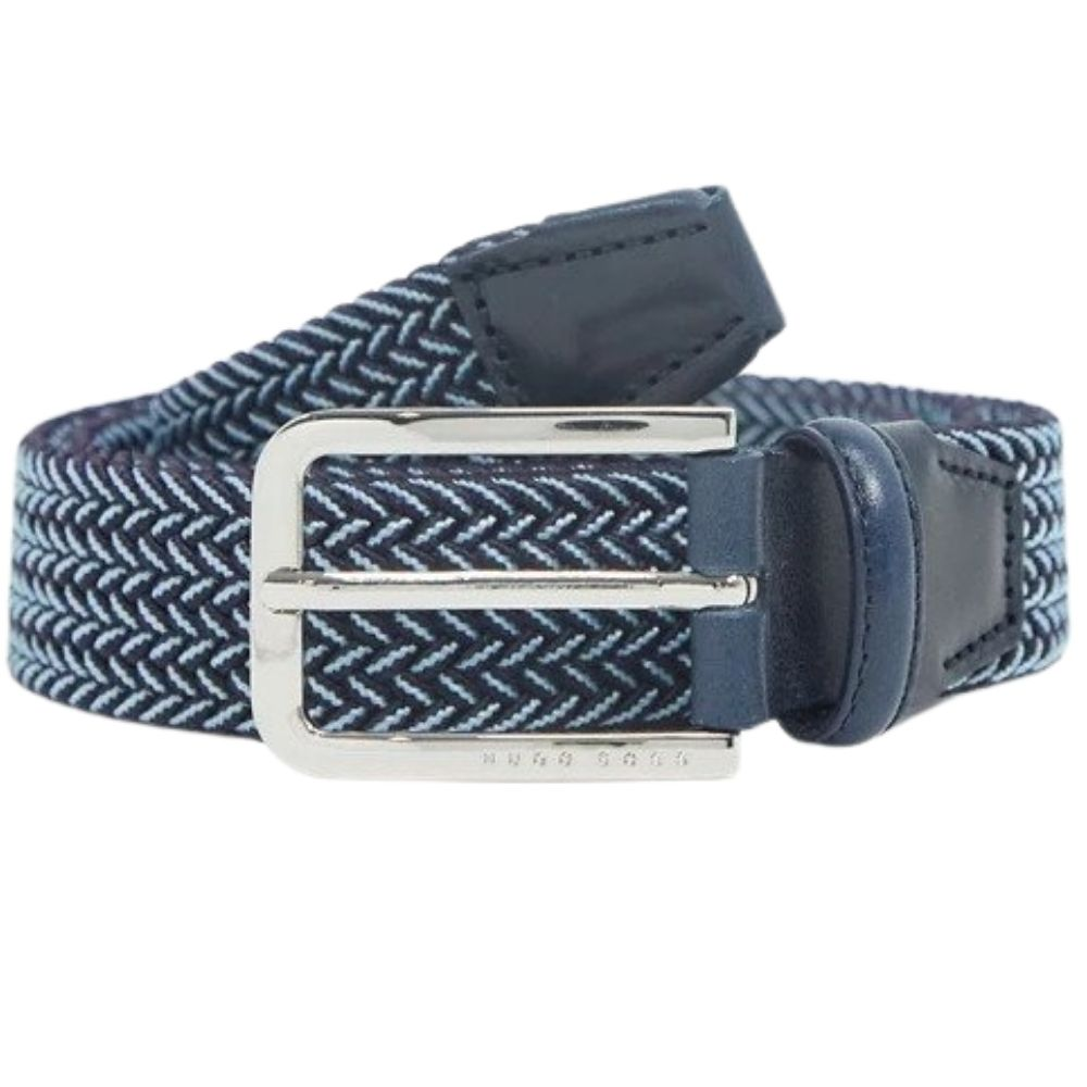 BOSS Clorio Belt Blue and Navy