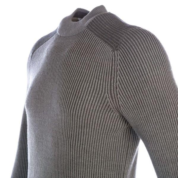 BOSS Ribbed crew neck jumper in Grey1