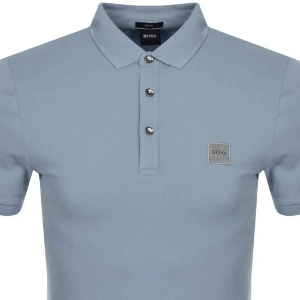 BOSS SLIM STRETCH POLO GREY 3