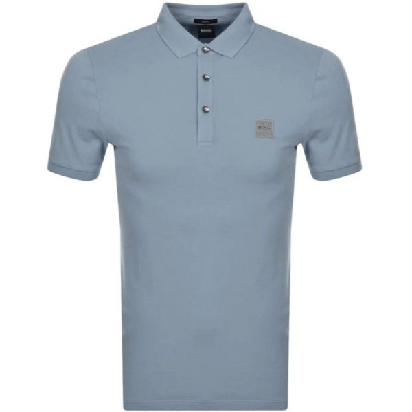 BOSS SLIM STRETCH POLO GREY 4