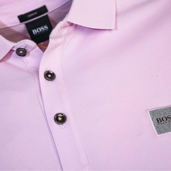 BOSS SLIM STRETCH POLO PINK 2