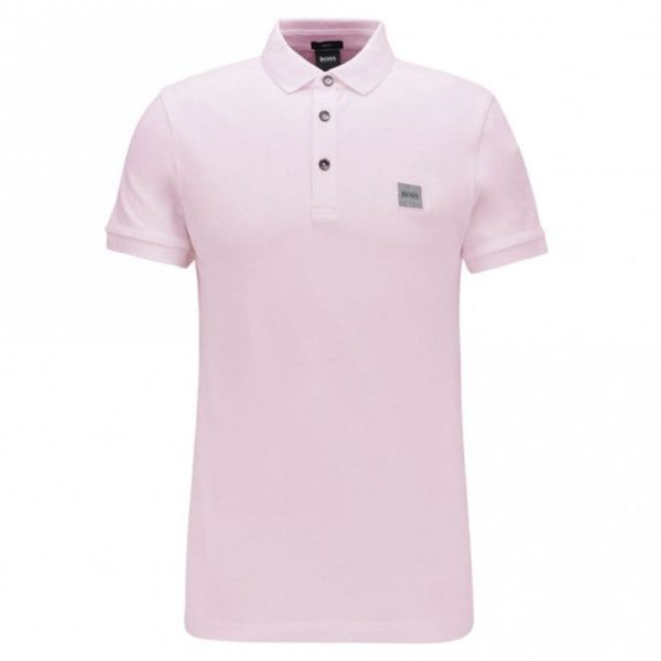 BOSS SLIM STRETCH POLO PINK