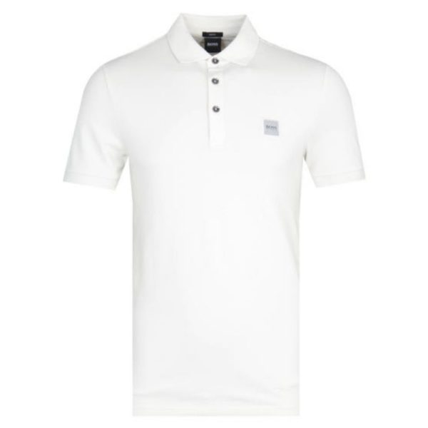 BOSS STRETCH POLO WHITE