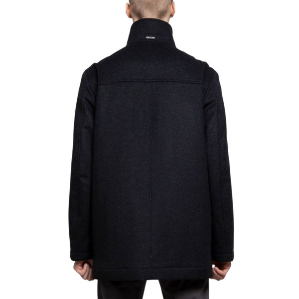 BOSS WOOL CASHMERE BLEND1 COAT IN CHARCOAL