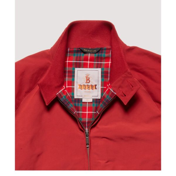 Baracuta G9 Jacket Red collar