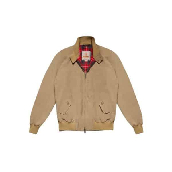 Baracuta G9 jacket tan front V1