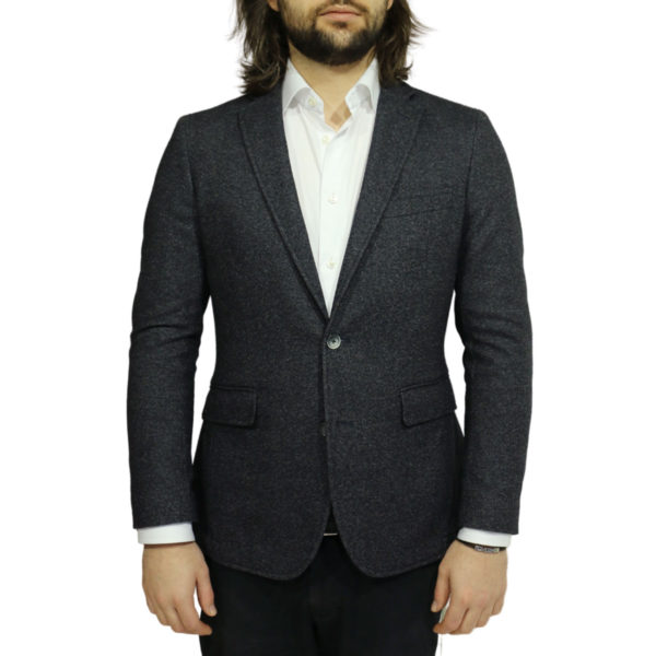 Blazer jacket charcoal front