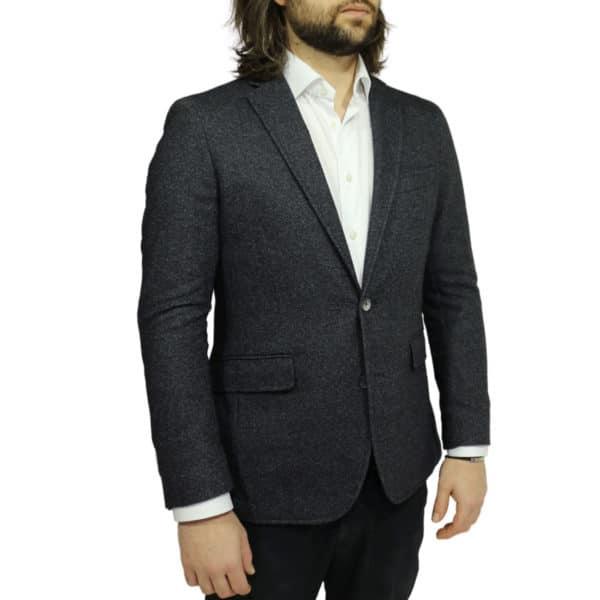 Blazer jacket charcoal side