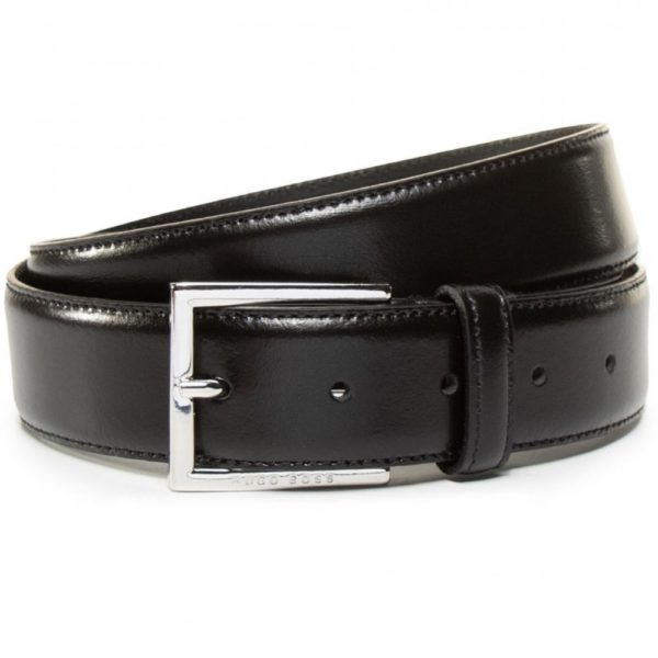 Boss Canzio Black Leather Belt