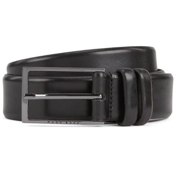 Boss Carmello Black Leather Belt