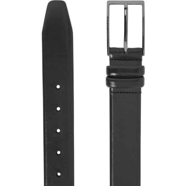 Boss Carmello Black Leather Belt detail