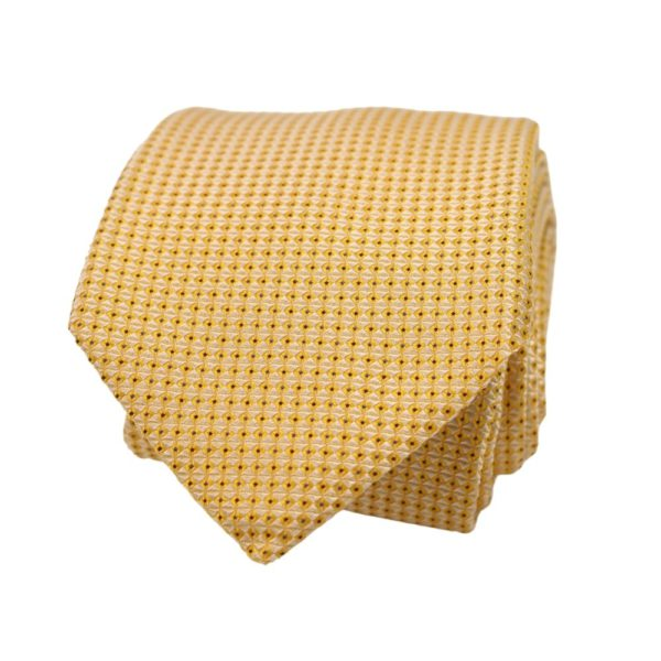 Boss Diamond Tie Yellow 2