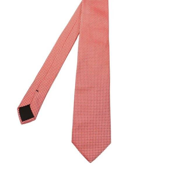 Boss Diamond knit tie red 1