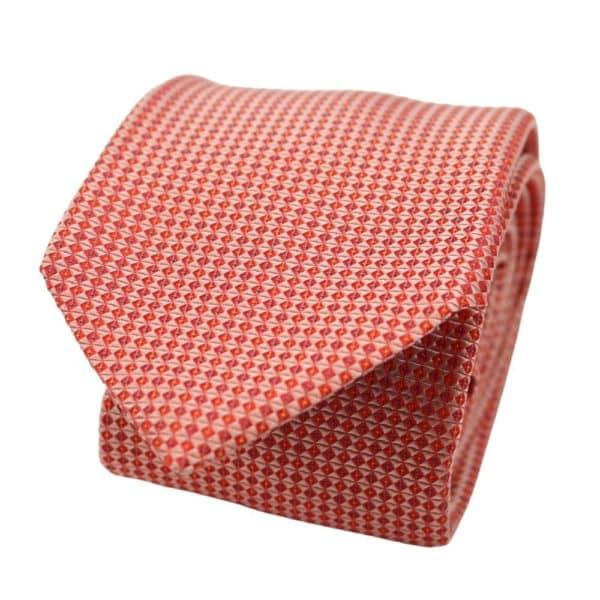 Boss Diamond knit tie red 2