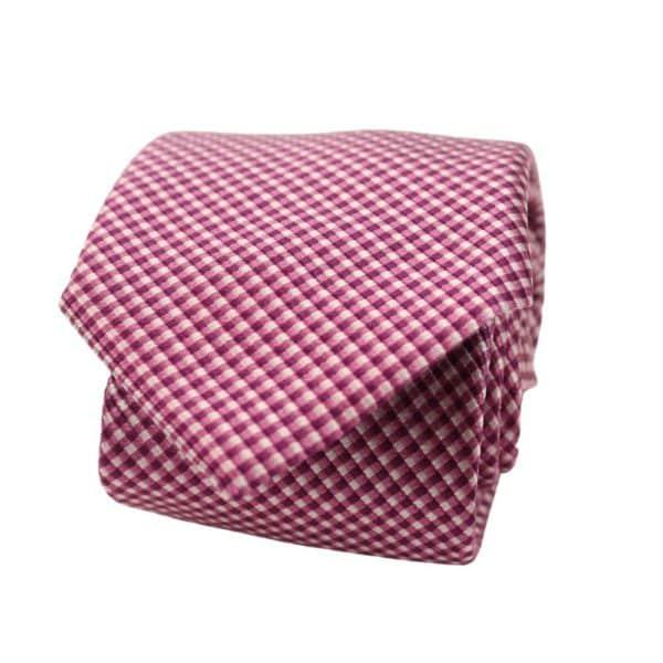 Boss Jacquard Tie Pink 1