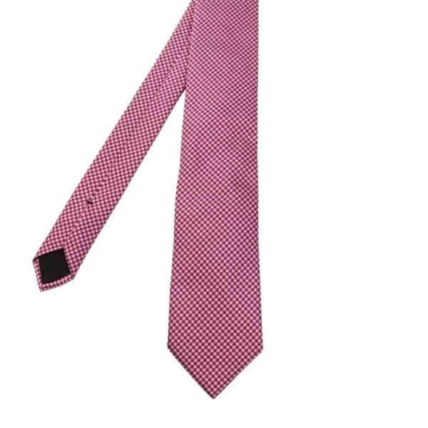 Boss Jacquard Tie Pink 2