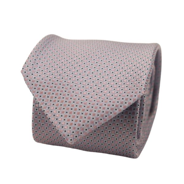 Boss Squares Tie Blue Silver 2