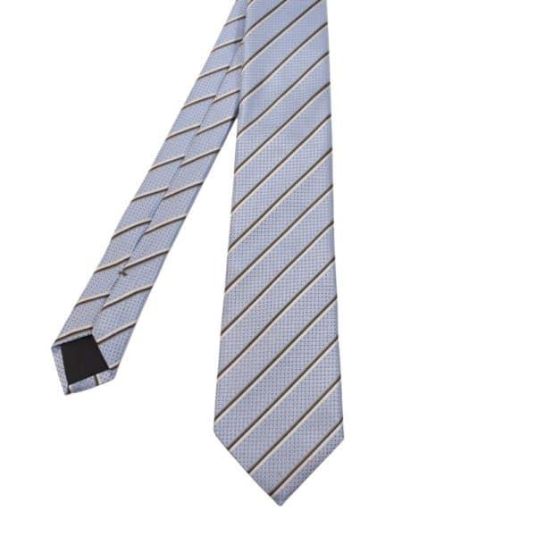 Boss Striped Tie Blue 1