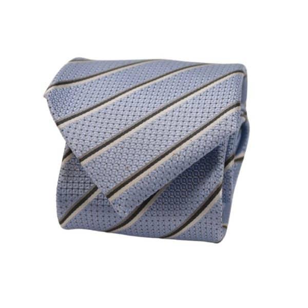 Boss Striped Tie Blue 2