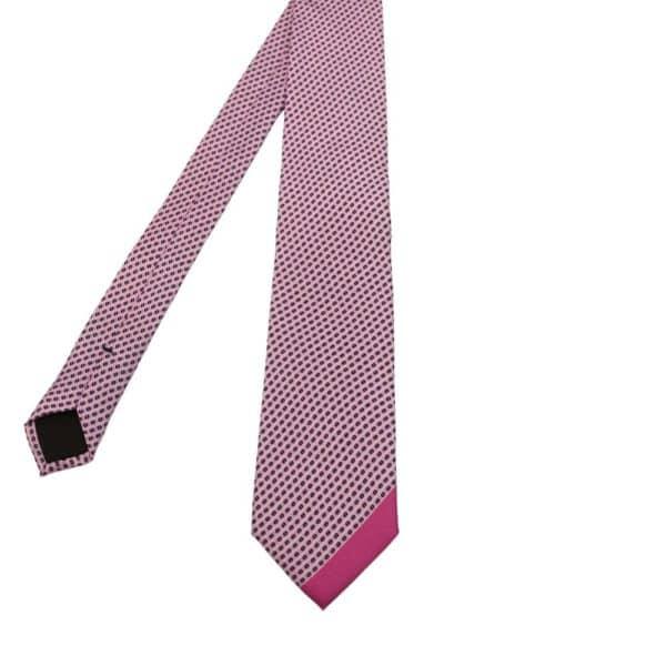Boss Tie Dot Trim Pink 1