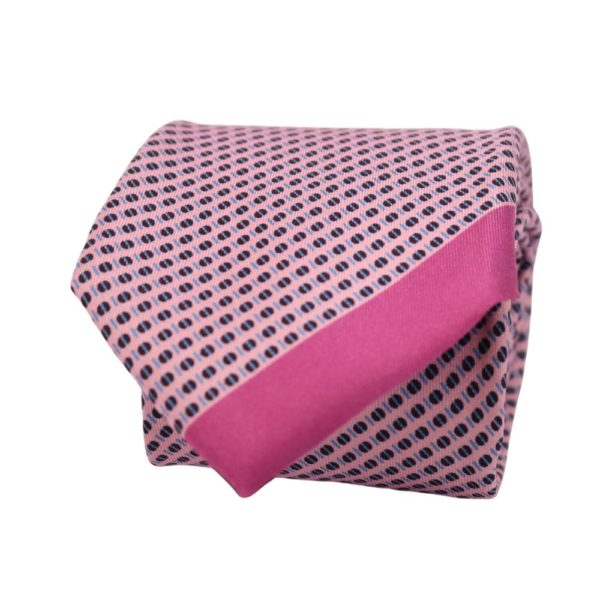 Boss Tie Dot Trim Pink 2
