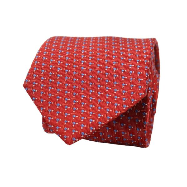 Boss tie squares red 2